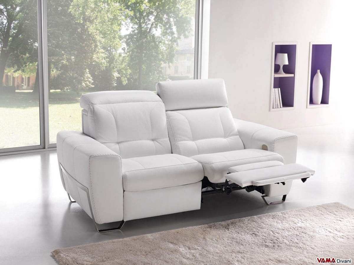 Divani Relax.Electric Relax Sofa With Two Motors For Head And Feet