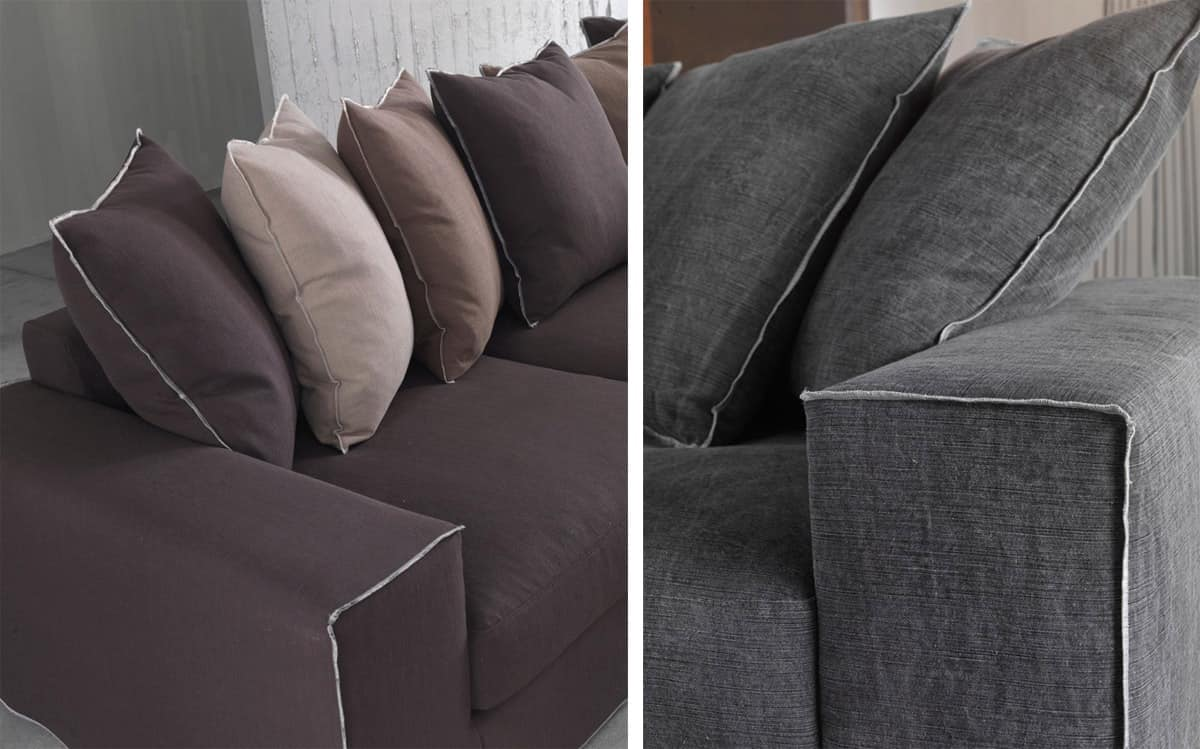 Heritage, Sofa for hotel, padded with polyurethane and down