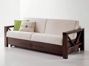 Special Sofa In Wood With Personalized Carvings Idfdesign