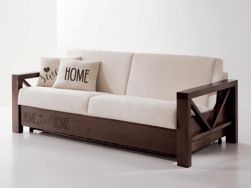Hollywood customized 02, Special sofa in wood with personalized carvings