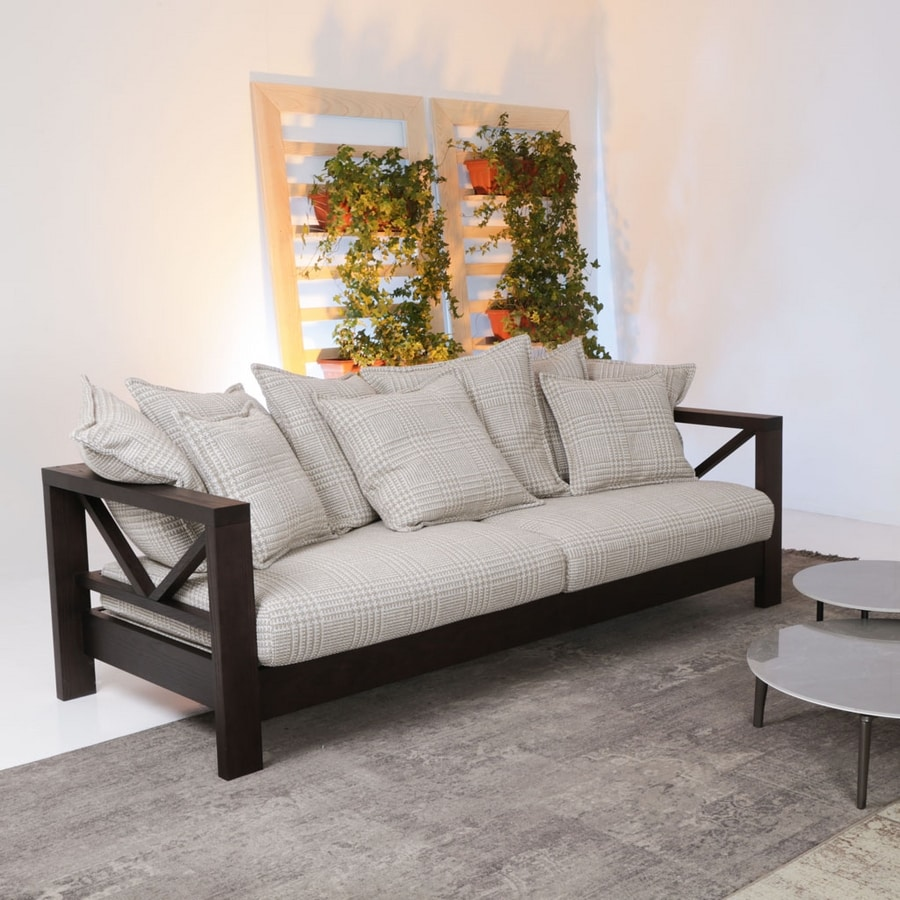 Hollywood Soft, Sofa with solid wood structure
