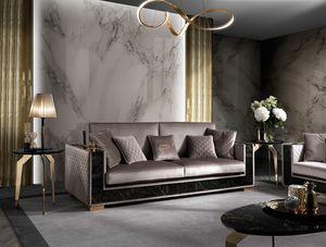 Incanto sofa, Sofa with rigorous shapes
