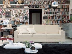 Incontro, Linear sofa in polyurethane foam, for hotel