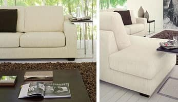 Ischia, Modern sofa in a simple style, padded with polyurethane