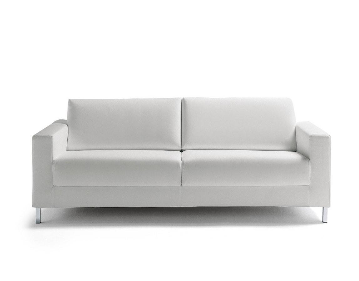 James, Convertible sofa with metal feet