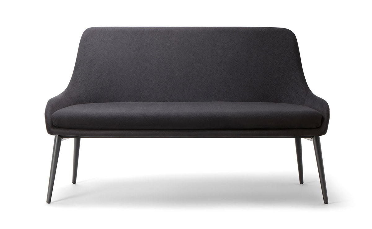 JO SOFA 058 DL, Sofa with metal base