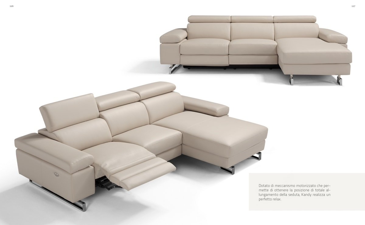 Kandy, Sofa with electric relax mechanism