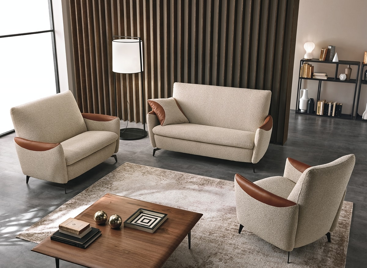 Kilt, Small sofa with rounded shapes
