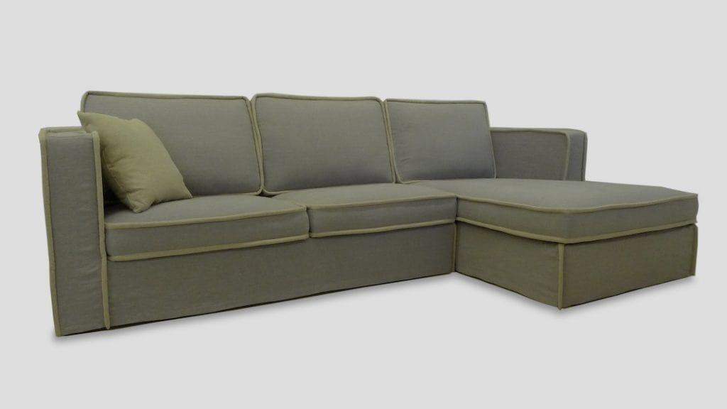 Dimensioni Divano Angolare 3 Posti.Corner Custom Made Sofa With Chaise Longue Idfdesign
