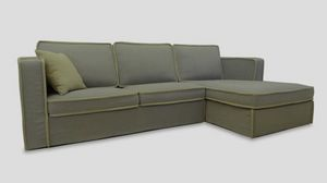 Kirby, Corner custom-made sofa with chaise longue
