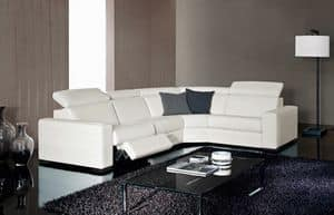 Kline, Elegant sofa, adjustable, with relax function