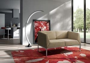 Kos sofa, Sofa with metal feet for modern living rooms