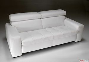 Kyoto, Modern linear sofa with quilted cushions