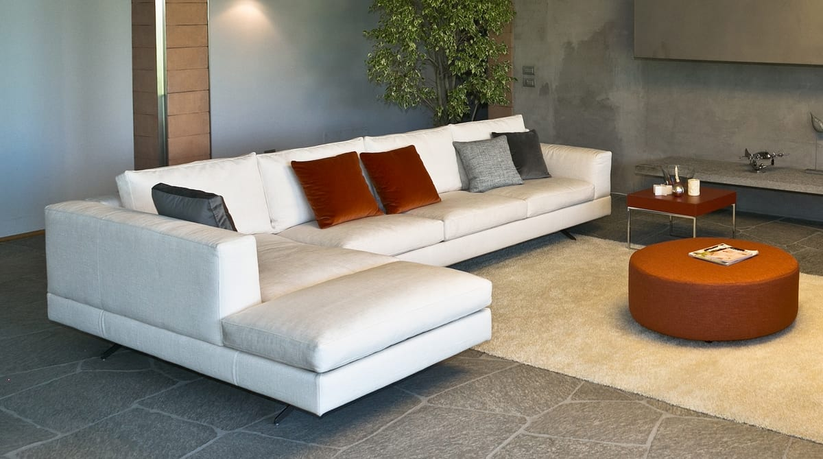 Lario angular, Modular sofa, with a modern design