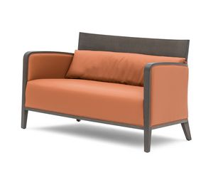 Logica 00952, Solid wood sofa for relax and waiting areas