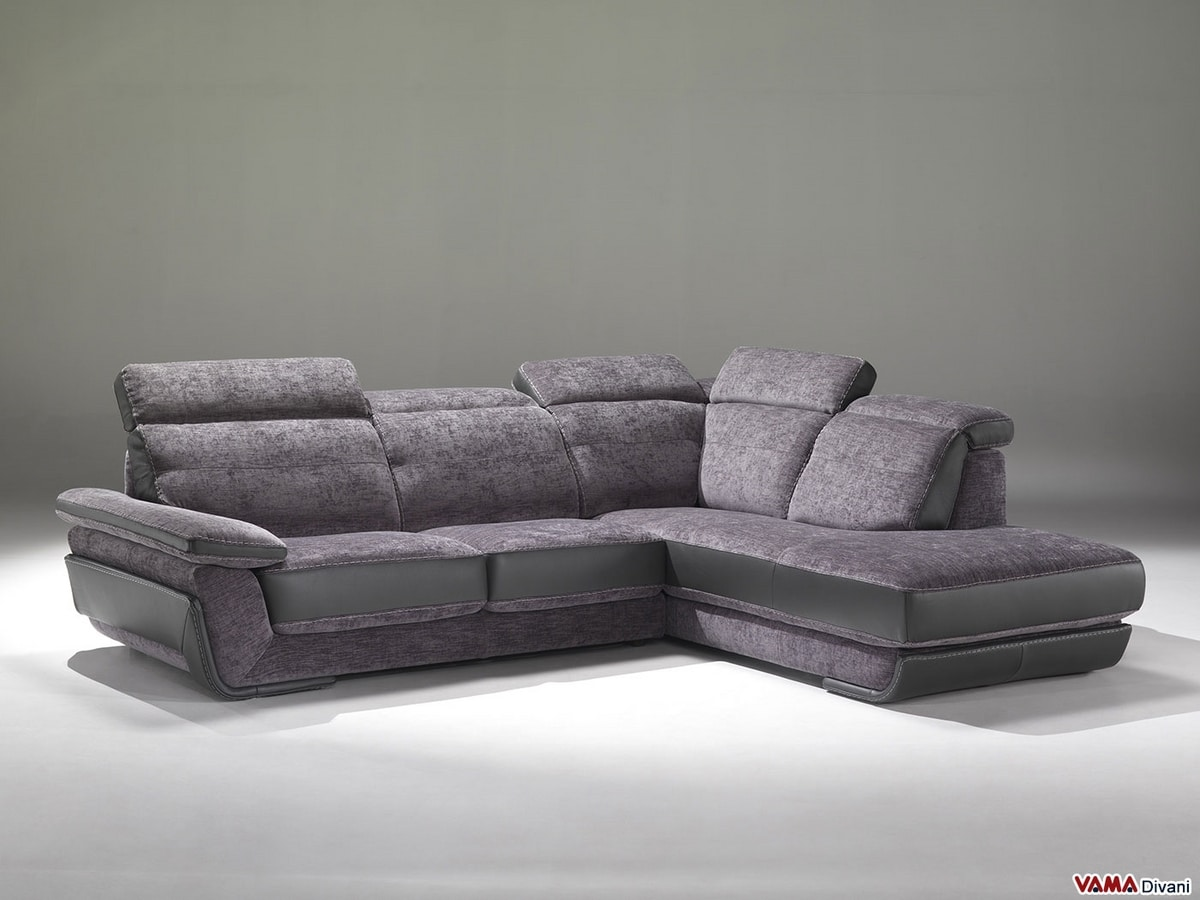 Louisanne, Corner sofa and peninsula with reclining headrest
