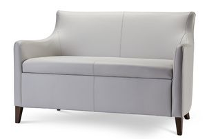 MADEIRA D LOUNGE 1, Two-seater sofa in fabric or eco-leather