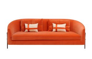 Mademoiselle, Sofa with rounded backrest