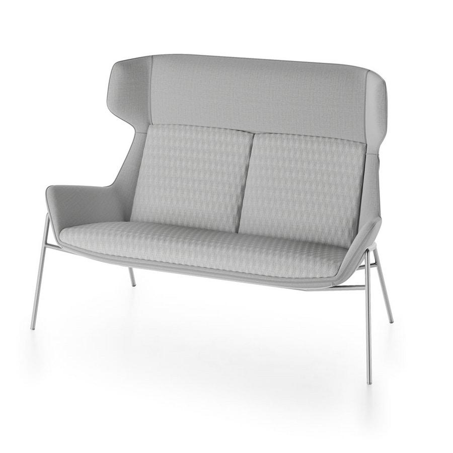 Magenta sofa, Sofa with high back
