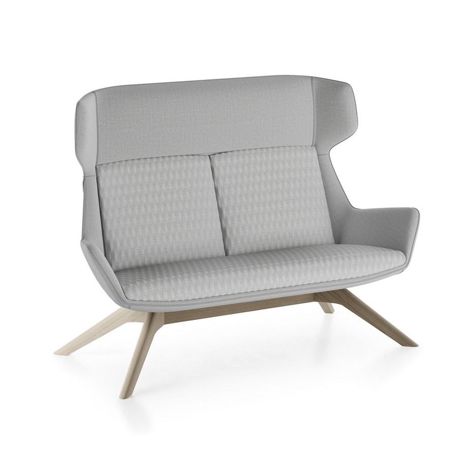 Magenta sofa, Sofa with ash wood base