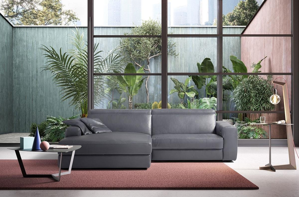 Marni, Comfortable modern sofa