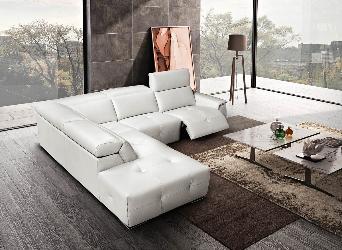 Mayon, Leather sofa with relaxation mechanism
