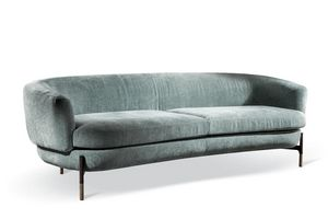 Miami, Linear rounded sofa with modern design
