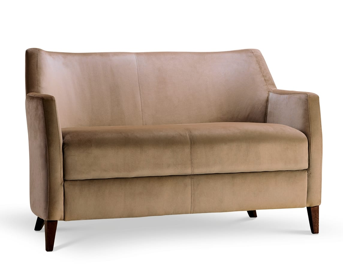 MILANO LOUNGE 2, Fabric or velvet sofa
