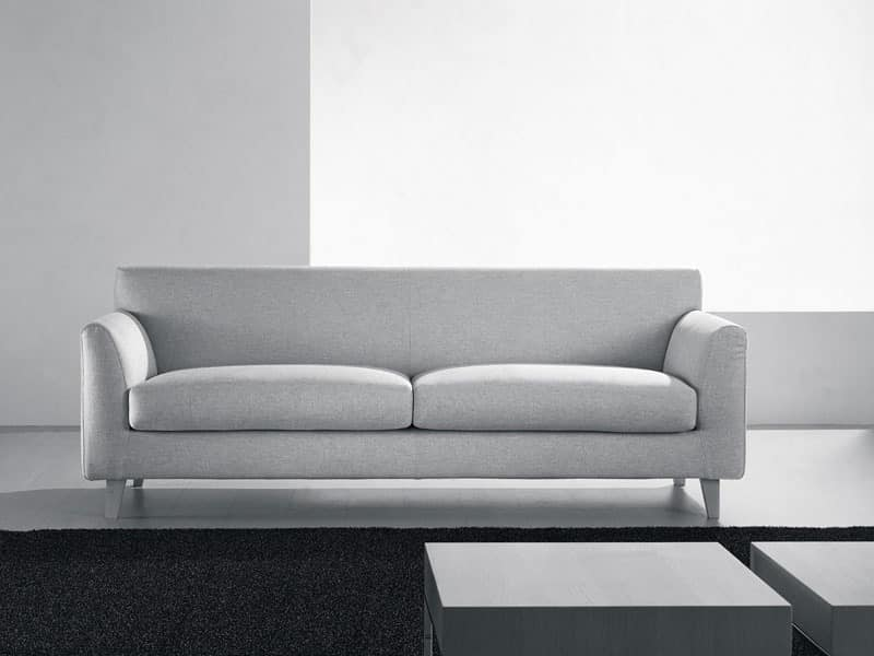 Minorca, Modern sofa, pillows in various sizes, for living room