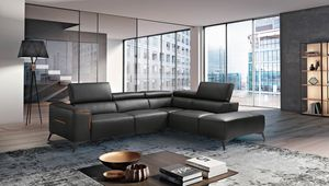 Moma, Corner sofa in leather