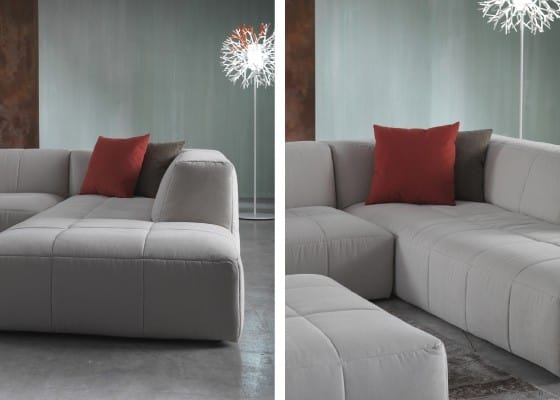 Morbidone, Sofa linear in polyurethane, removable cover
