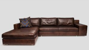 Morris, Corner sofa in leather
