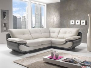 New Zealand corner sofa, A modern corner sofa in leather with high back