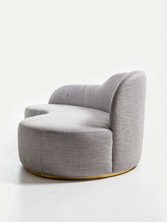 OLIVER SOFA 019 P, Sofa with sinuous shapes