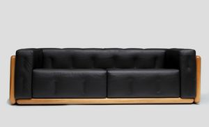 Olmo, Sofa with walnut structure