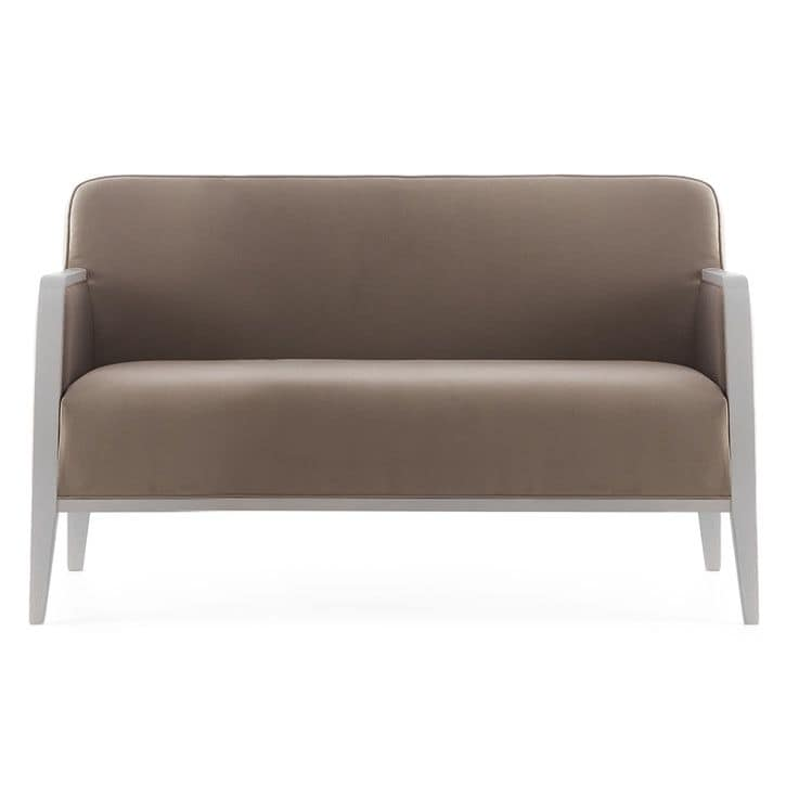 Opera 02251, Sofa in solid wood, upholstered seat and back, fabric covering, modern style
