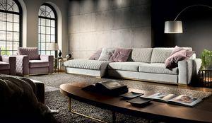 Parioli, Modular sofa, with an elegant design