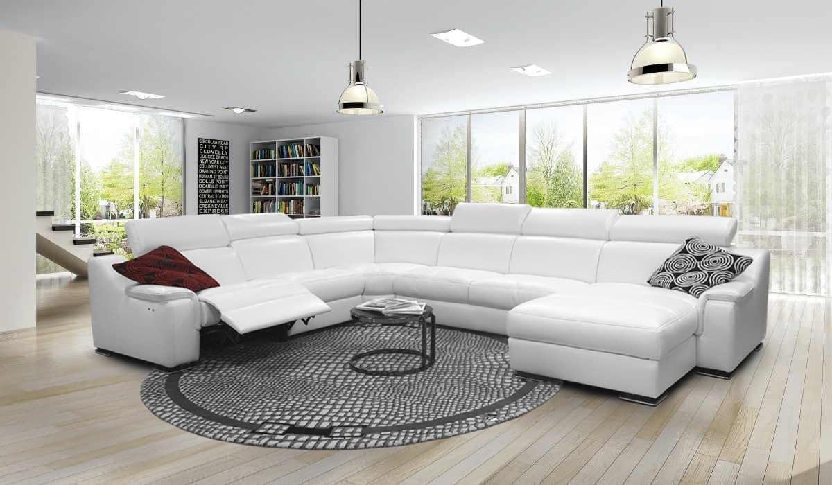 Corner Sofa With Adjule Footrest