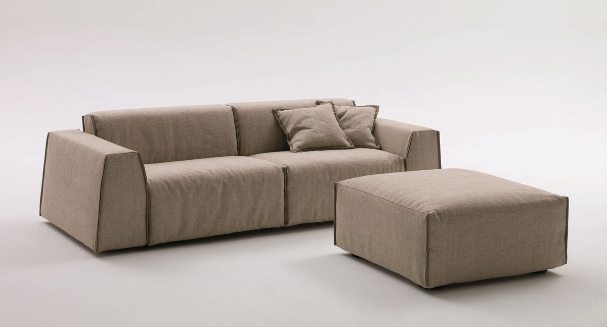Parker, Modern sofa bed, with removable upholstery