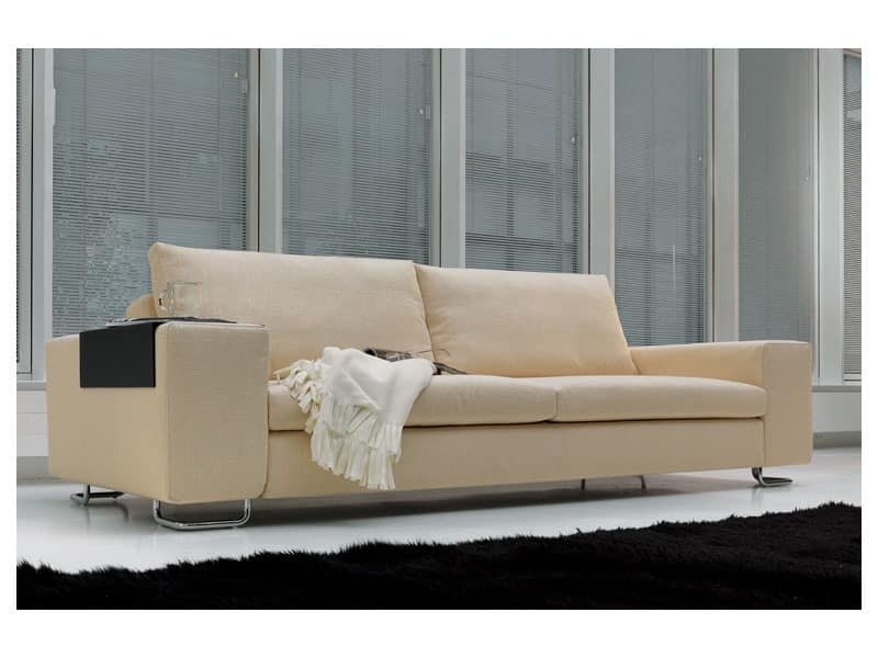 Poker, Modern sofa in polyurethane and feather, for office