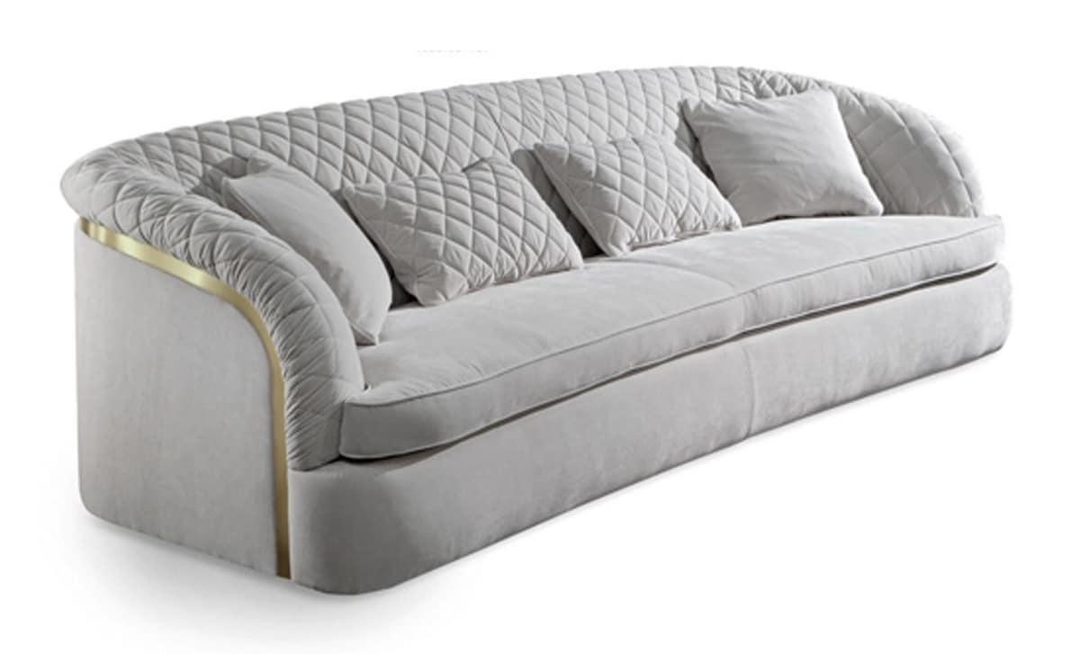 Portofino sofa, Padded and quilted sofa, handmade
