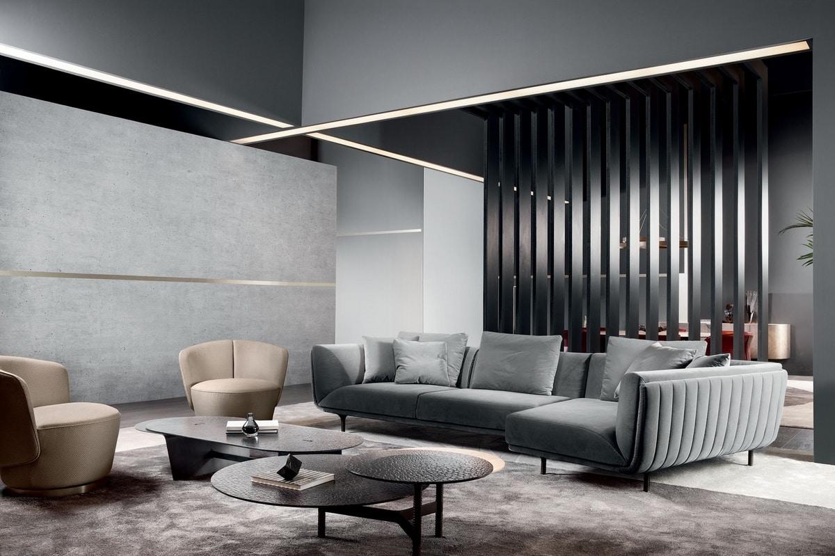 Premiere, Elegant sofa with soft lines