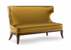 ROSE SOFA 066 D, Sofa with sinuous lines, with high back