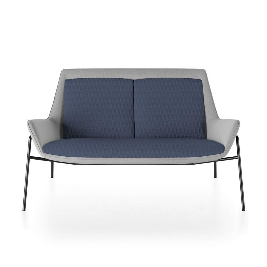 Roxy sofa, Modern sofa with metal base