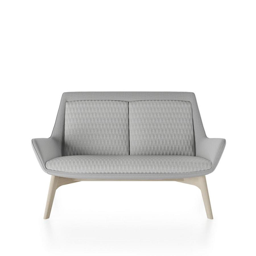 Roxy sofa, Sofa with wooden base