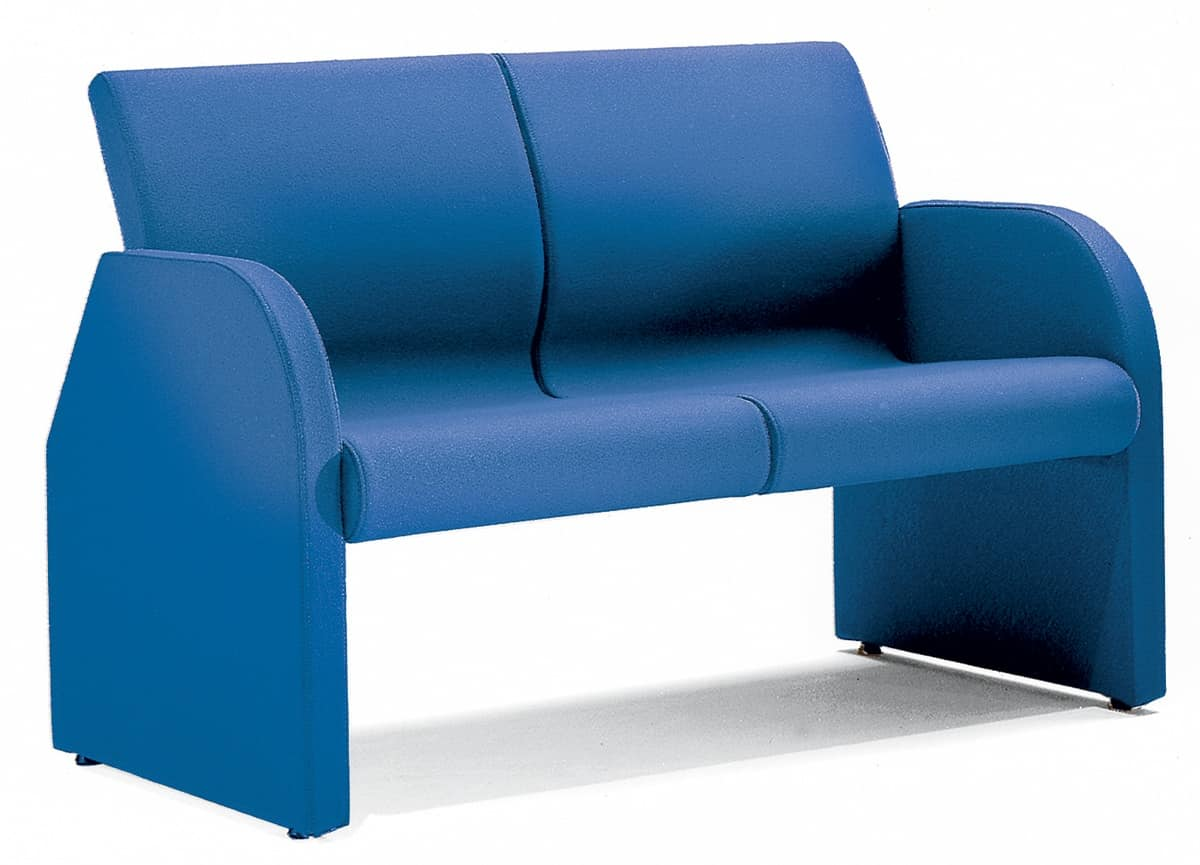 ONE 402, Fully upholstered sofa with steel frame