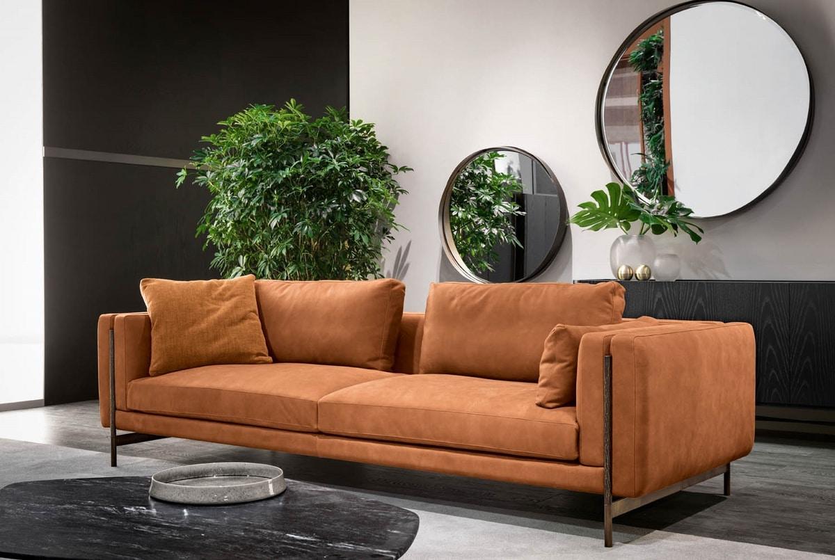 Shangai sofa, Sectional sofa, with metal structure