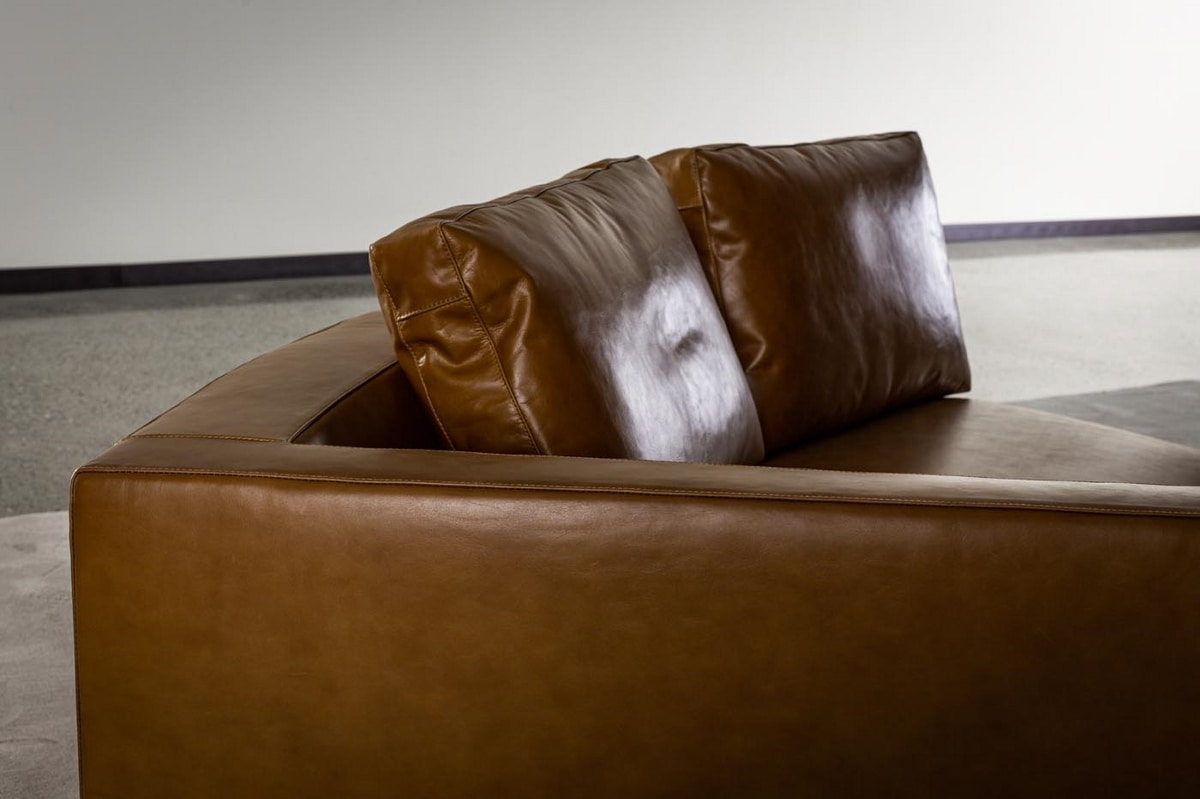 Shawn, Modular leather sofa