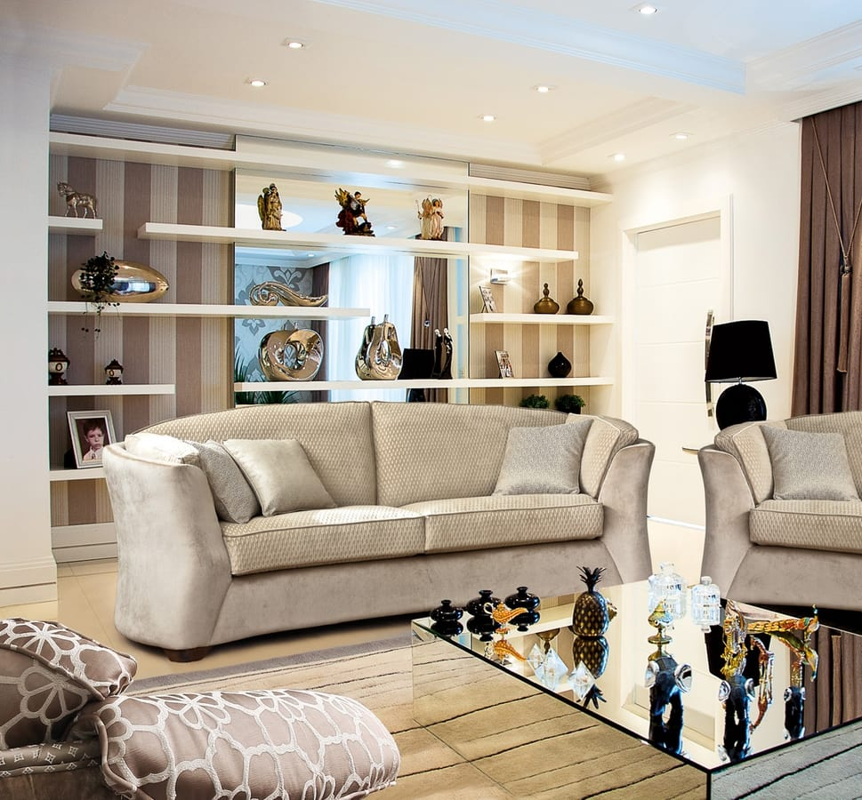 Sinclair, Sofa with refined lines, suitable for any environment