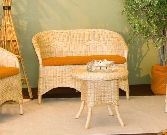 Sofa Berna, 2-seater sofa in wicker